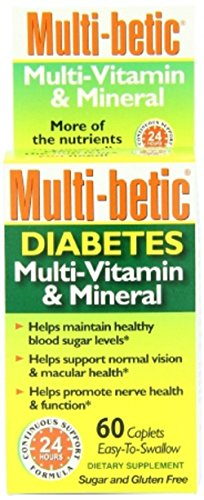 Diabetic Multivitamin - Multi-betic - Diabetes Multivitamin Supplement - 5000 IU / 250 mg Strength - Tablet - 60 per Bottle-McK