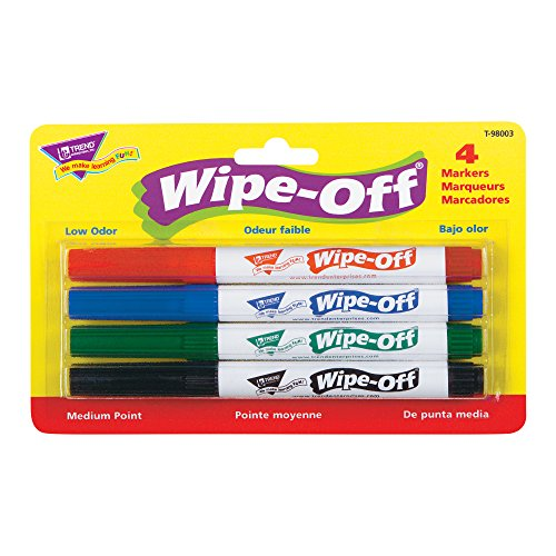 4 Pack Standard Colors Wipe Off%C2%AE Markers product image