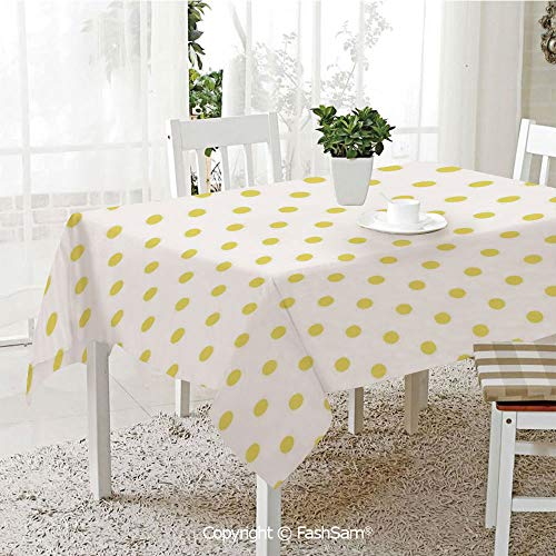 AmaUncle 3D Dinner Print Tablecloths Retro Small Yellow