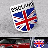 Slack Off Flag Shield Emblem Car Stickers & Decals - Aluminum England Flag Shield Emblem Badge Car Sticker Decor Universal Truck Auto - National Fleur-De-Lis Flagstone Harbour - 1PCs