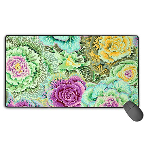 (Gaming Mouse Pad Brassica Moss Large Non-Slip Rubber Gaming Mouse Pad Mat 15.7