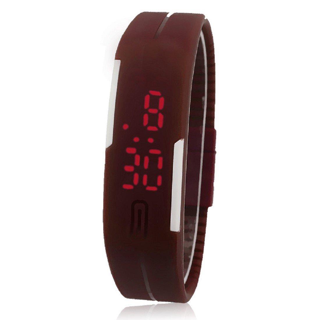 Hemlock Mens Womens Bracelet Sport Digital Watches New Ultra Thin Silicone Wrist Watch