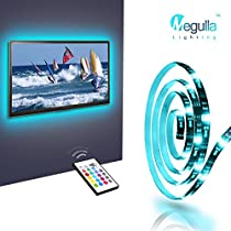 Megulla Bias TV Lighting Kit Ambient TV Lighting Precut USB LED RGB Strip Lights TV Backlight Kit with Remote for TV, PC, Home Theater and DesktopMonitors