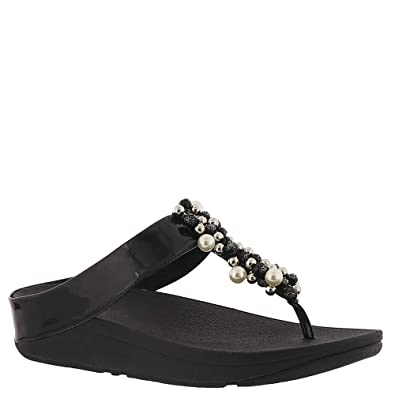 3d75980a11658 Fitflop Deco Sandals Black  Amazon.co.uk  Shoes   Bags