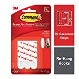 Command Refill Strips, Medium, White, 9-Strips - 17021P