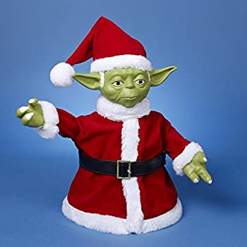 "10.5"" Star Wars™ Santa Yoda Christmas Table Top Figure or Tree Topper"