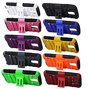 SOL Angibabe Shockproof Hybrid Durable Silicone PC Cases with Kick Stand Holder for Galaxy S5 / i9600