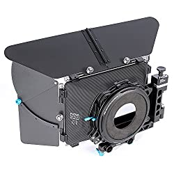 Fotga DP500III 4x4 DSLR Swing-Away Matte Box with Donuts for 15mm Rail Rod System,Suitable for Sony A7 A7R A7S II III A9 A6300 A6500 GH4 GH5/5S Canon 5D 6D 7D II III IV D850 BMPCC 4K Video Camera