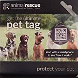 QR Code Pet ID Tag for Dogs & Cats: AnimalRescue.com Q-Tag - GPS Enabled - Digital Pet ID System
