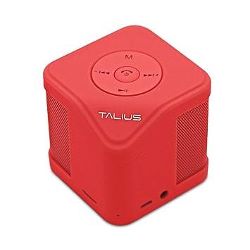 Talius Cube - Altavoz Bluetooth 3.0, Tarjeta SD, Entrada AUX ...