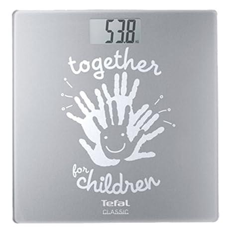 Tefal Classic UNICEF Báscula personal electrónica Plata - Báscula de baño (Báscula personal electrónica,