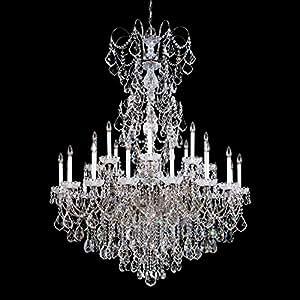 Schonbek 3662-22TK New Orleans 24-Light Chandelier with Golden Teak Crystals from Swarovski, Heirloom Gold