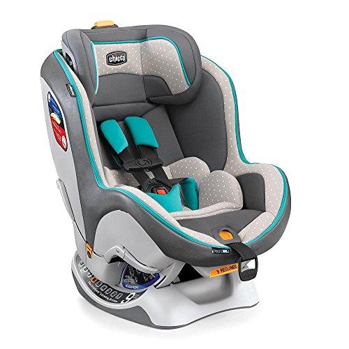 Chicco NextFit Zip Forward & Rear Facing 5-65 Lbs Convertible Safety Car Seat, Polka Dots Aqua Blue Amuletta