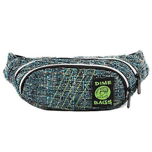 Fanny Pack - Hemp Hip Pack w/Spacious Storage and Adjustable Strap (Glass) ()