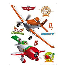 Planes Poster-Sticker Wall-Tattoo - Dusty And El Chupacabra (34 x 26 inches)