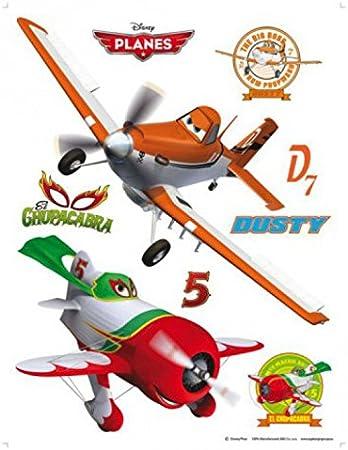 1art1 Aviones - Dusty and El Chupacabra Pegatina para Pared (85 x 65cm): Amazon.es: Hogar
