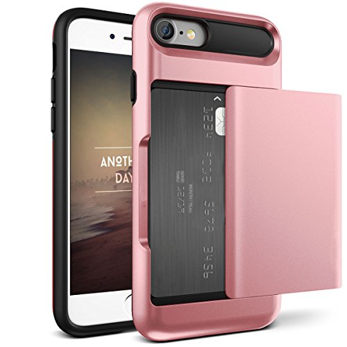For Iphone 6 Plus Wallet Case, Iphone 6Plus Case iPhone 6Plus Wallet Case Card Holder Shell Heavy Duty Protection Cover Case for iPhone 6Plus Rose Gold
