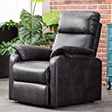 Harper&Bright Designs Leisure Power Lift Recliner Chair with Built-in Remote (Brown)