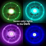 LED Flying Disc - CrazyLynX Ultimate Sport Disc Light Up, Sprint Ring Frisbee with LED Glowing Flashflight at Night, Spin Flywheel with Changing Lights for Dog Pets Adults Children Gift