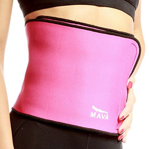 Waist Slimming Trimmer Exercise Belt Wide Blue - 6