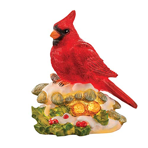 Collections Etc Cardinal Accent Light Christmas Table Decoration