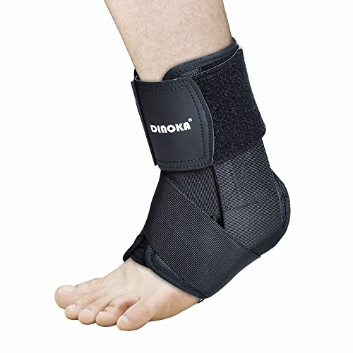 AnkleBraces, AnkleGuard Support Stabilizer Breathable Moisture-wicking Nylon Material AnkleProtector with Elastic Adjustable Compression Tension for Injury Recovery, Ankle Sprain and Joint Pain (L)