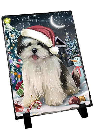 Have A Holly Jolly Lhasa Apso Dog Christmas Photo Slate Slt0246 Picture