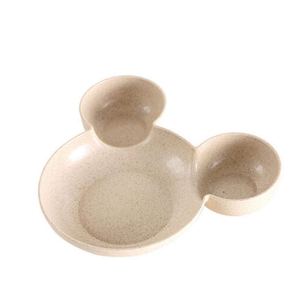 Gugio Kids Cute Ears Plate Melamine Tableware Fruit Plate Cartoon Baby Boxes