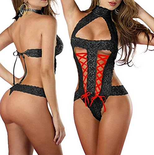 AnHua Womens Sexy Perspective Nightwear Sleepwear Lingerie Set Lace Lingerie for Sex (Asian Women Sexy)