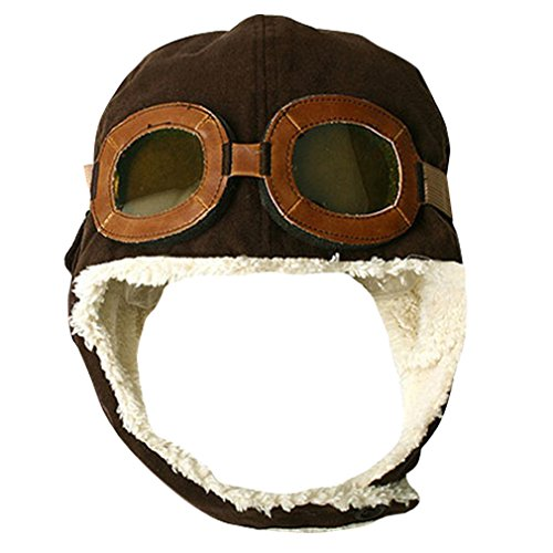 Junior Little Children Wool Lining Aviator Pilot Beanie Cap - Online Aviator