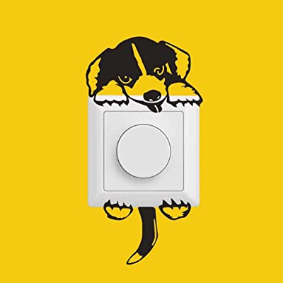 Xisheep Easter Day Home Décor , Wall Sticker New Dog Wall Stickers Light Switch Decor Decals Art Mural Baby Nursery Room - Black: Sports & Outdoors