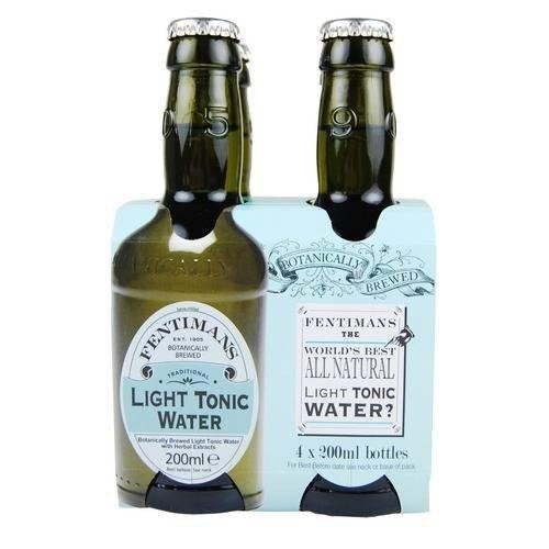 (2 Pack) - Fentimans - Light Tonic Water | 4x200ml | 2 PACK BUNDLE