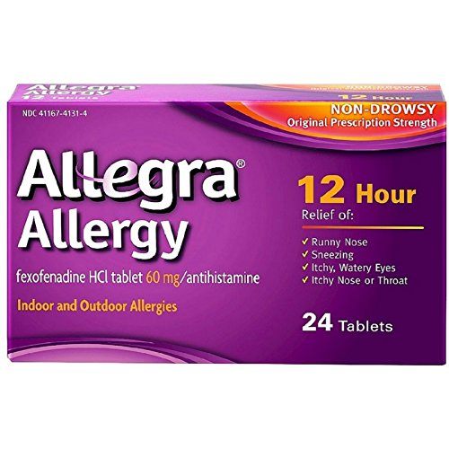 [알레그라] Allegra Allergy 12 Hour Non-Drowsy Tablets, 24 ea - 2pc [비염 알레르기]