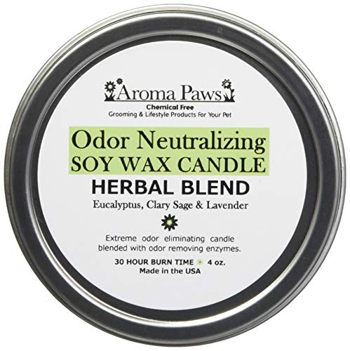 - Aroma Paws Odor Neutralizing Candle in Tin, 4-Ounce, Herbal