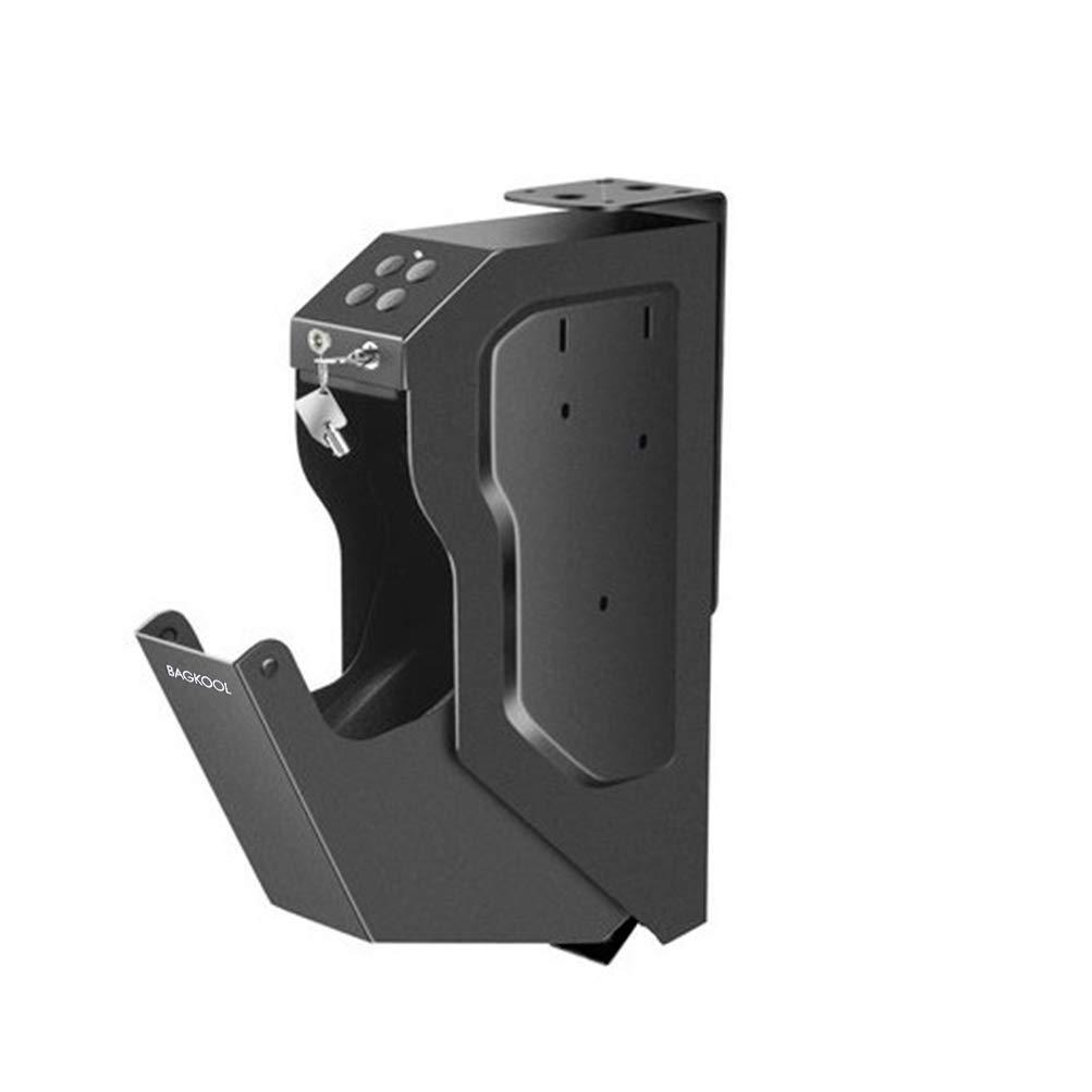 BAGKOOL Handgun Safe Box Mounted Firearm Safety Device Pistol Gun Safe Box with Digital Code & 2 Emergency Key by BAGKOOL
