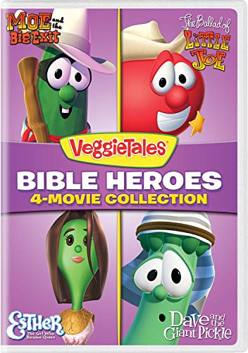 VeggieTales: Bible Heroes 4-Movie Collection (Moe and the Big Exit / The Ballad of Little Joe / Esther - The Girl Who Became Queen / Dave and the Giant Pickle) (Girls Mikes Little Kid)