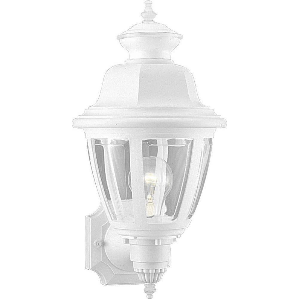 Progress Lighting P5737-30 Wall Lantern with Clear Beveled Acrylic Panels, White