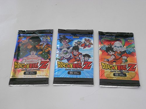 3 Packs Dragon Ball Z Movie Collection 2015 Trading Card Game Card Packs bundle [5 cards per pack] (Dragon Ball Z Movie Pack 3)