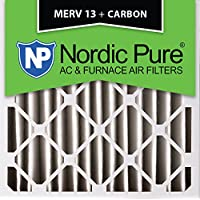 Nordic Pure 20x20x4 (3-5/8 Actual Depth) MERV 13 Plus Carbon AC Furnace Air Filters, Box of 1
