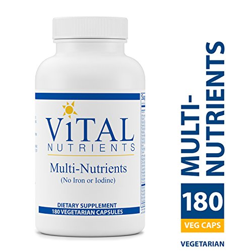 Vital Nutrients - Multi-Nutrients (No Iron or Iodine) - Comprehensive Multi-Vitamin/Mineral Formula With Potent Antioxidants - 180 Capsules Comprehensive Multivitamin