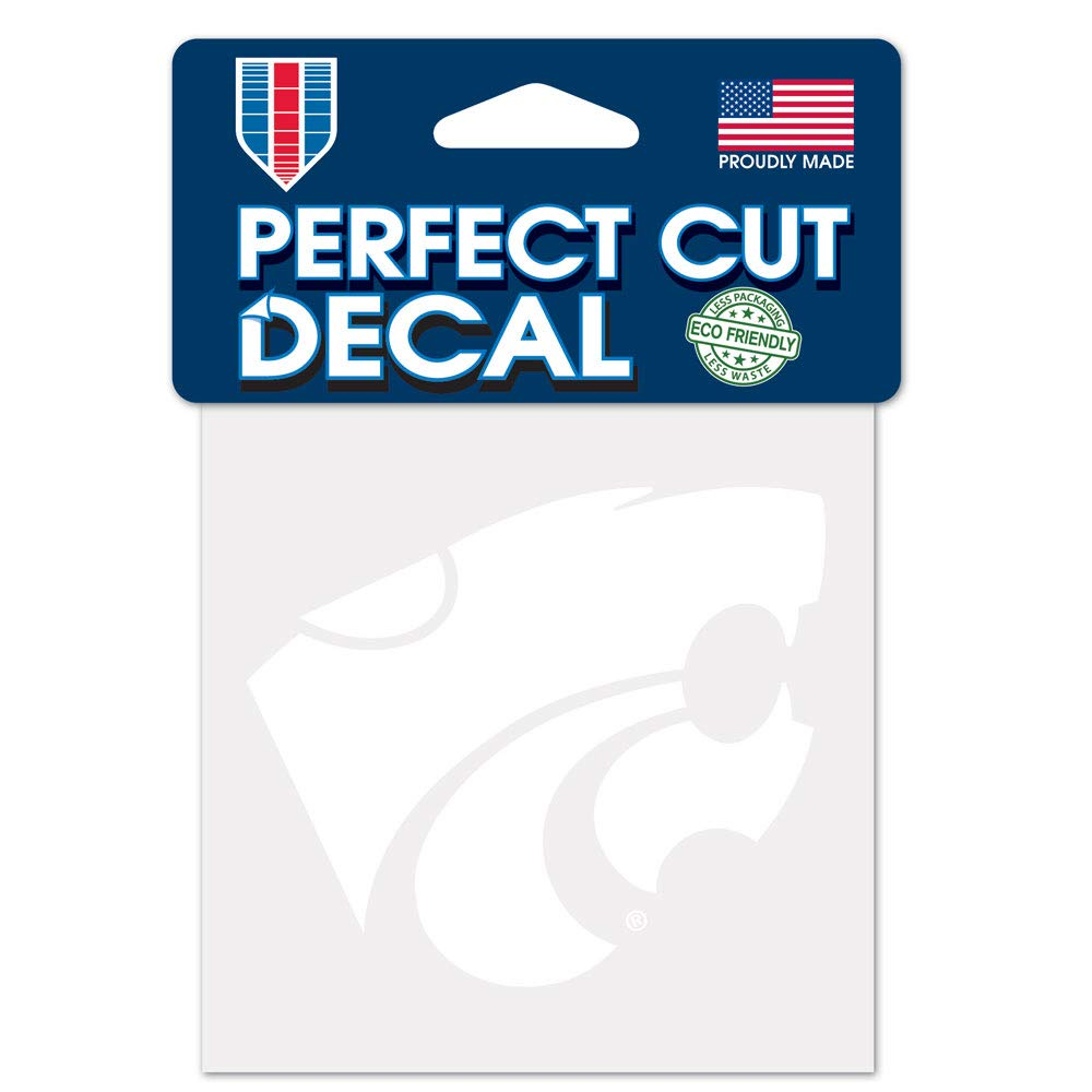 NCAA Kansas State Wildcats Decal4x4 Perfect Cut White Decal One Size Team Colors