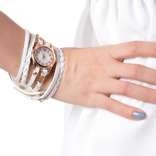 Godagoda-Women-Multilayer-Weave-Wrap-Link-Leather-Bracelet-Quartz-Wrist-Watch