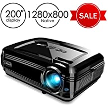 """Projector, CiBest BL58 LED Video Projector +80% Luminous Flux LED Source High Brightness for 200"""" Home Theater Support 1080P HDMI USB VGA to Laptop iPhone/iPad Smartphone Home Entertainment Party"""