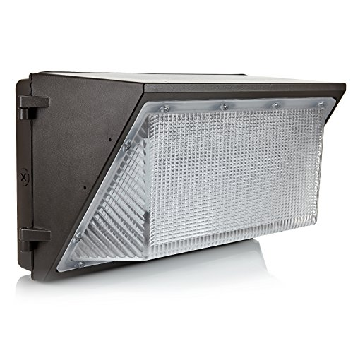 Hyperikon LED 90W Wall Pack Fixture, 400-600W HPS/HID Replacement, 5000K, 10800 Lumens, IP65 Waterproof and Outdoor Rated, DLC 4.2 & UL - Shield Included by Hyperikon