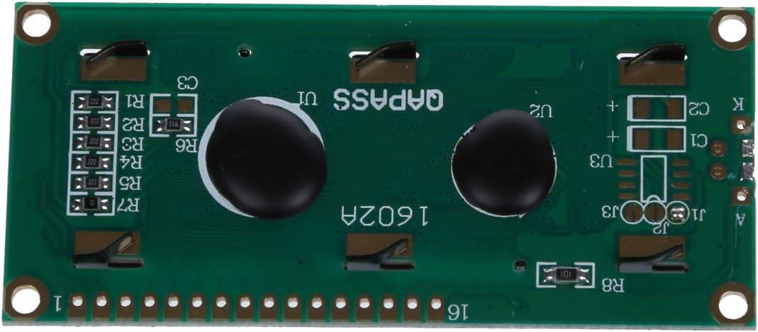 Cikuso 1602 162 16x2 Zeichen LCD-Display-Modul HD44780 Controller gelb Schwarzlicht