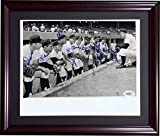 1950's Yankees / Red Sox Team Signed Dugout 8x10 Framed Photograph 9 Legendary Autographs Mickey Mantle, Ted Williams, Yogi Berra, Gil McDougald, Moose Skowron, Frank Malzone, Bob Grim, Bobby Richardson & Jim Turner - JSA Certified