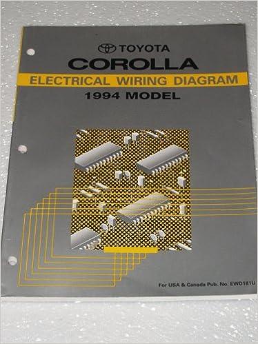 1994 Toyota Corolla Electrical Wiring Diagrams Toyota Motor