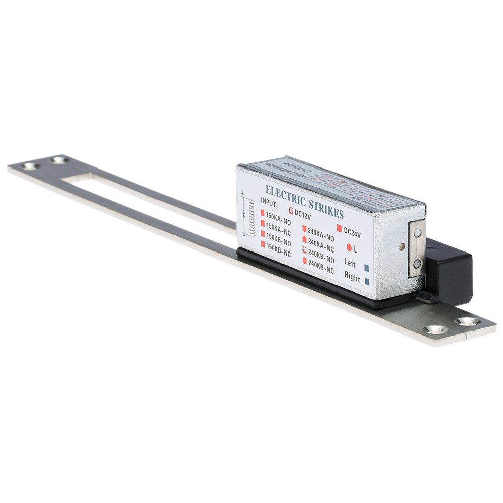 KKmoon 240 KG / 529lb DC12V Gâche électrique Verrouillage Fail Sécurisé NO Power-on Unlock + Anti Backlash Diode pour Le Système de Contrôle d'accès de Porte d'entrée