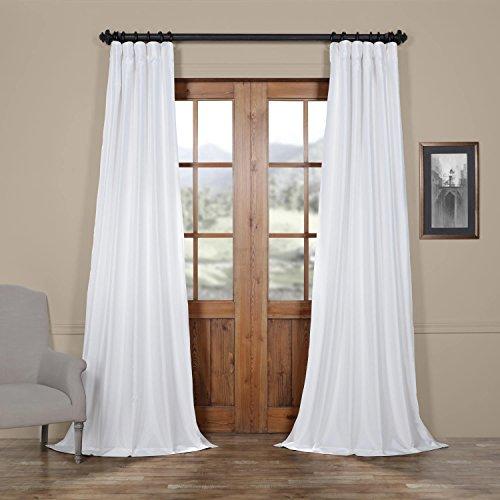Half Price Drapes PTCH-JTSP120-96 Faux Silk Taffeta Curtain, Eggshell