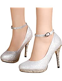 Amazon.com: Silver - Pumps / Shoes: Clothing, Shoes & Jewelry